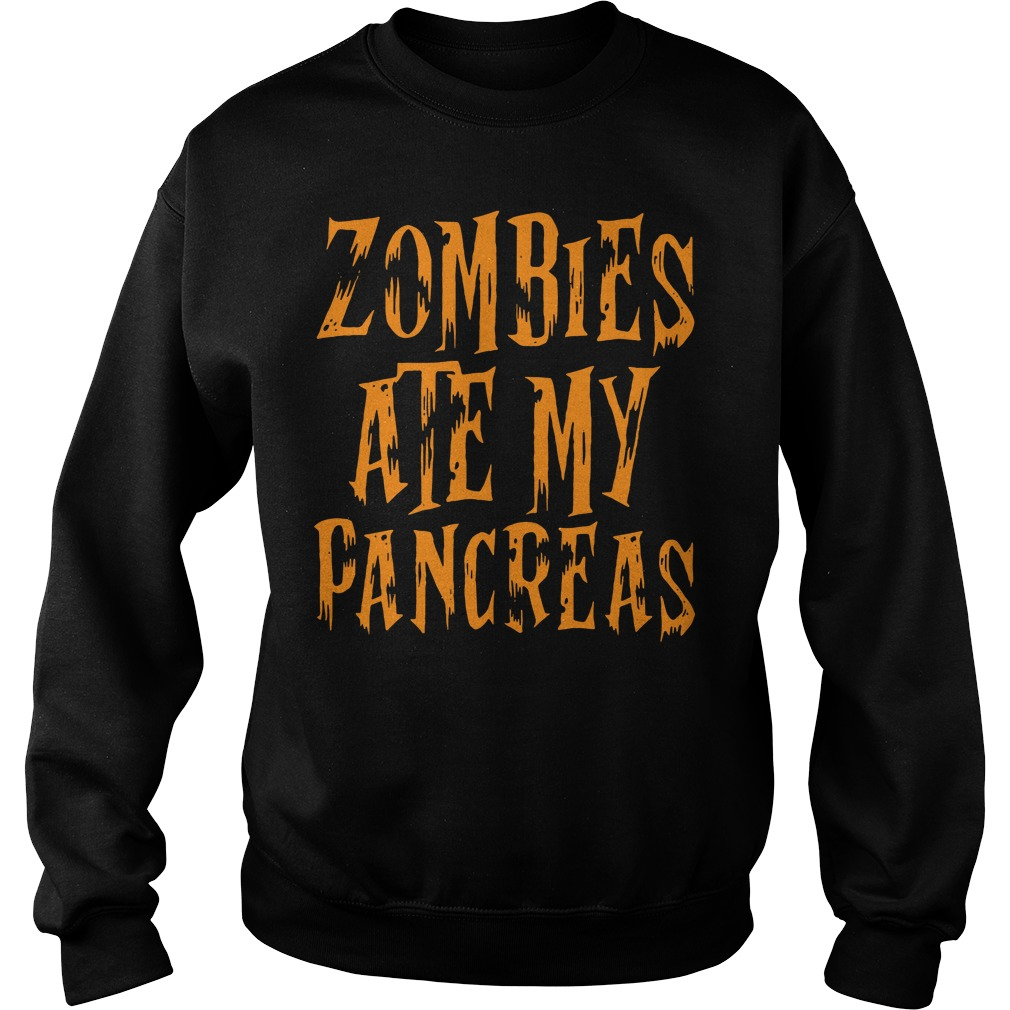 Halloween Zombies ate my pancreas Sweater