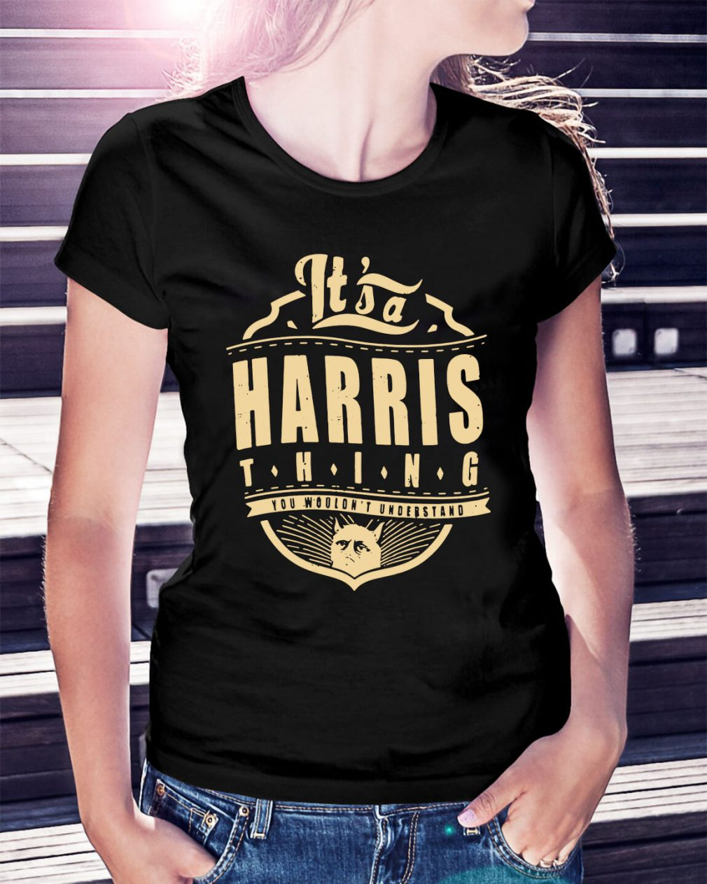 It's a Harris thing you wouldn't understand Ladies Tee