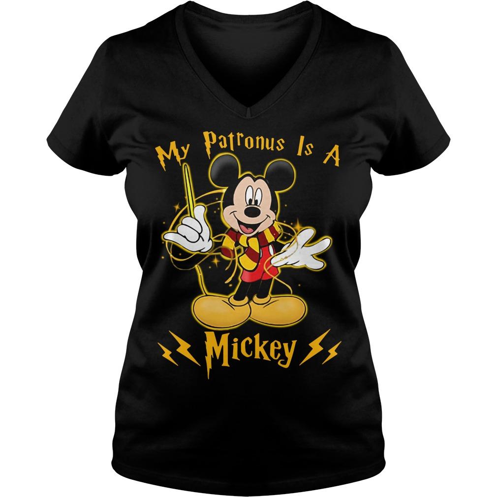 Harry Potter My Patronus is a Mickey V-neck T-shirt