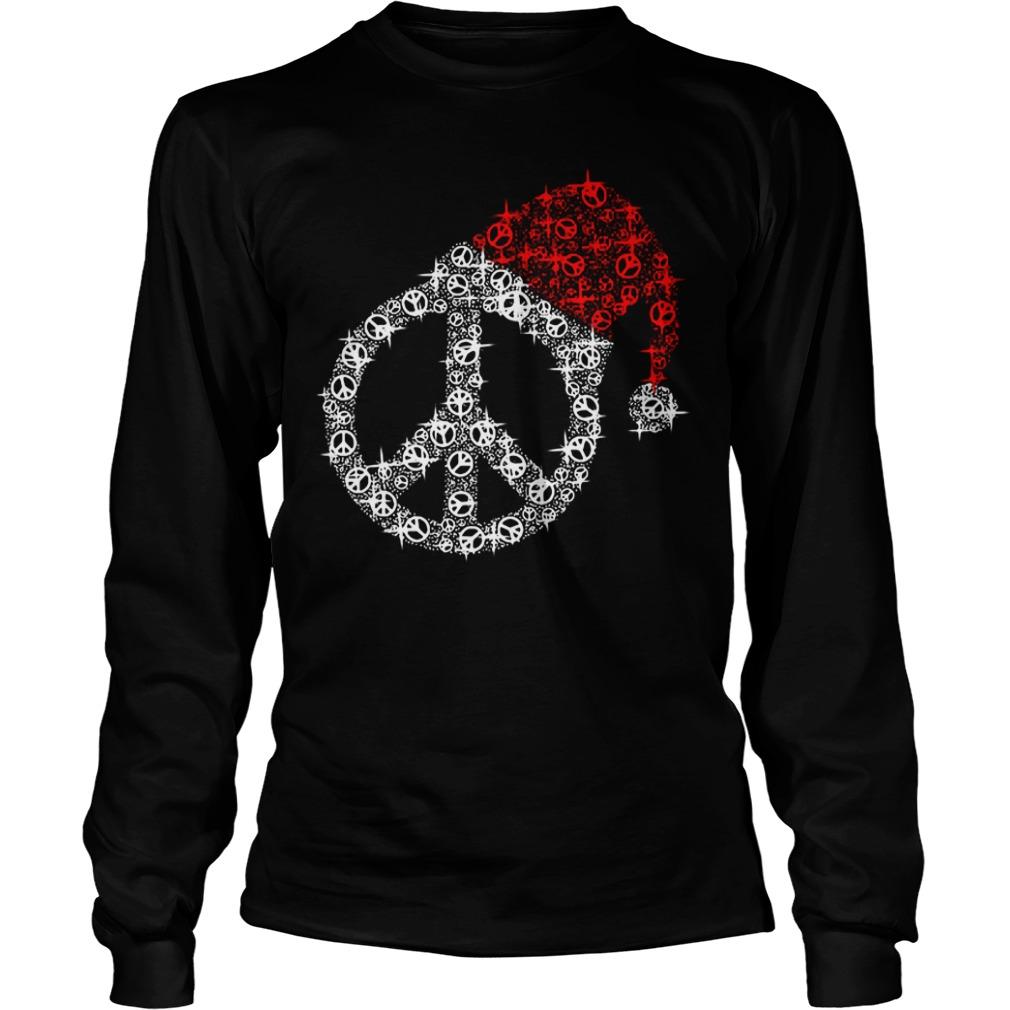 Hippie Christmas hat twinkle Longsleeve Tee