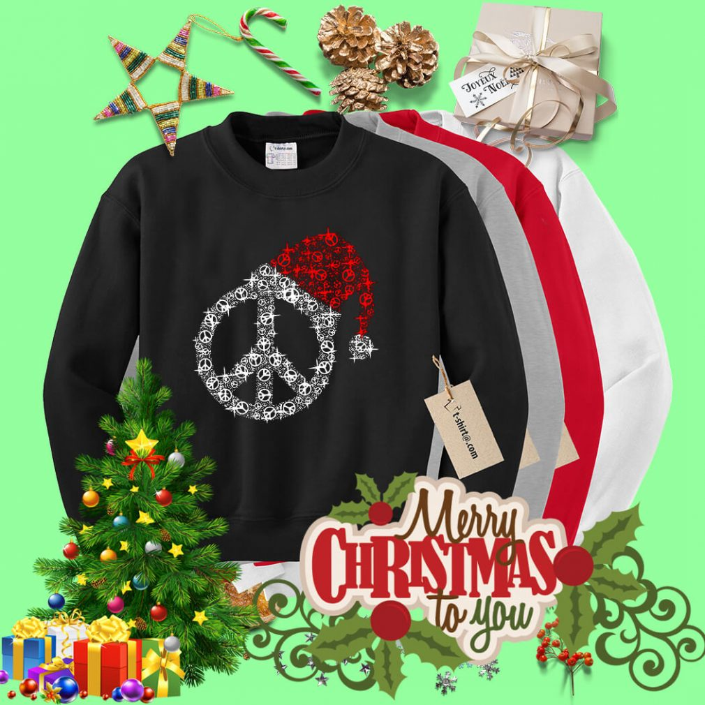 Hippie Christmas hat twinkle shirt, sweater