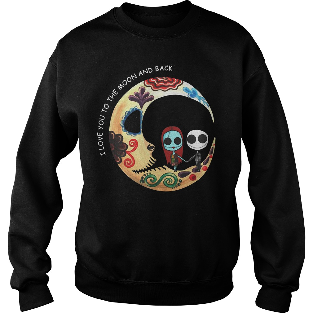 Jack and Sally I love you the moon and back Sweater