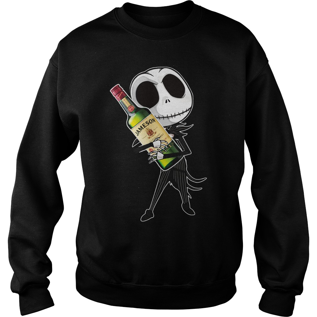 Jack Skellington hug Jameson Irish Whiskey Sweater