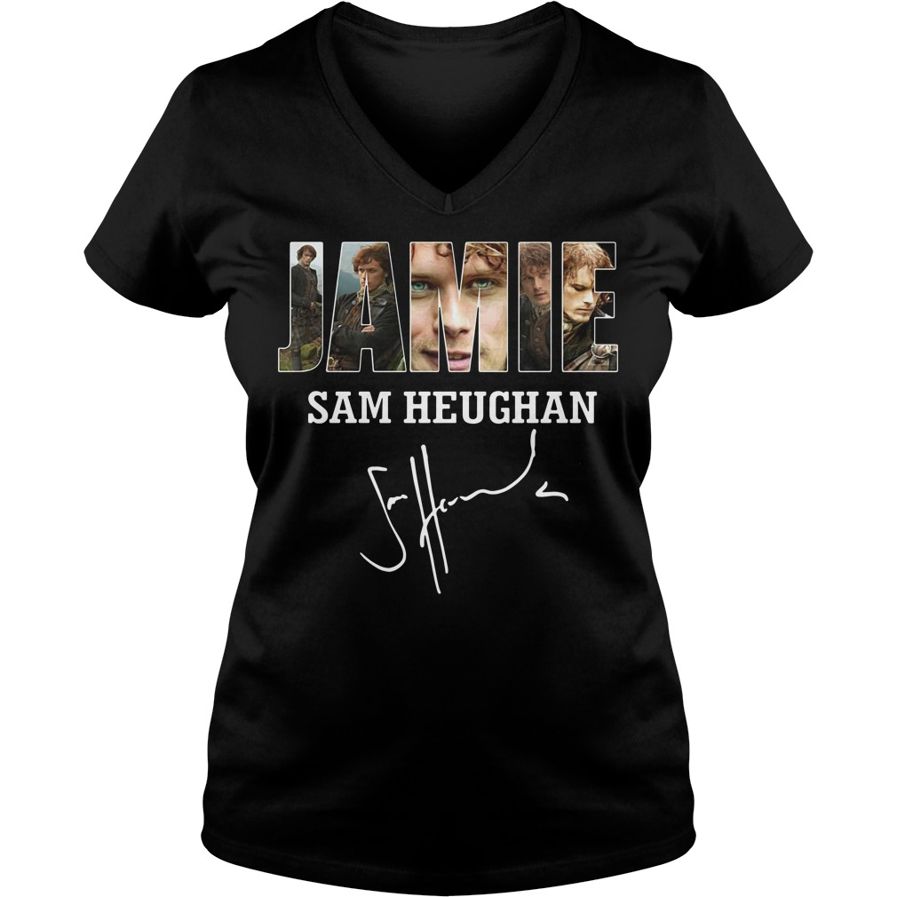 Jamie Sam Heughan V-neck T-shirt