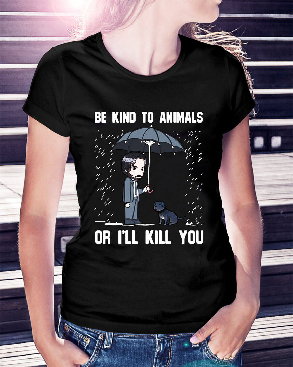 John Wick be kind to animals or I'll kill you shirt, hoodie, sweater