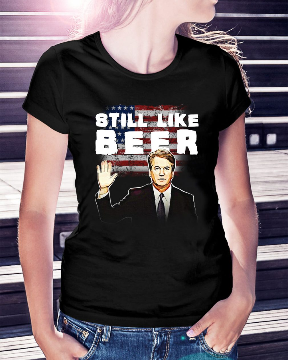 Judge Kavanaugh still like beer Ladies Tee