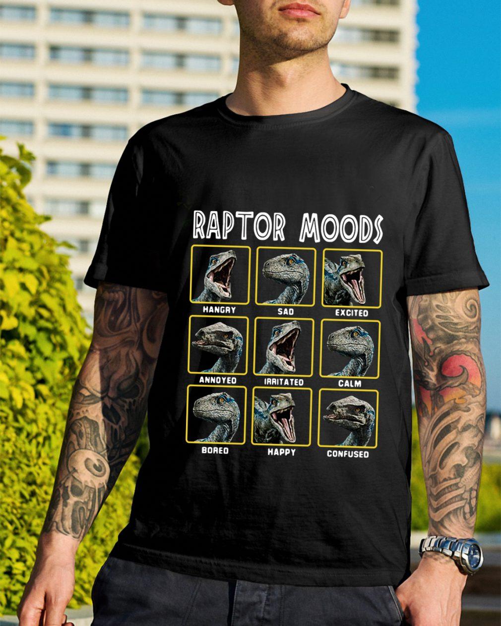 Jurassic park dinosaur raptor moods shirt
