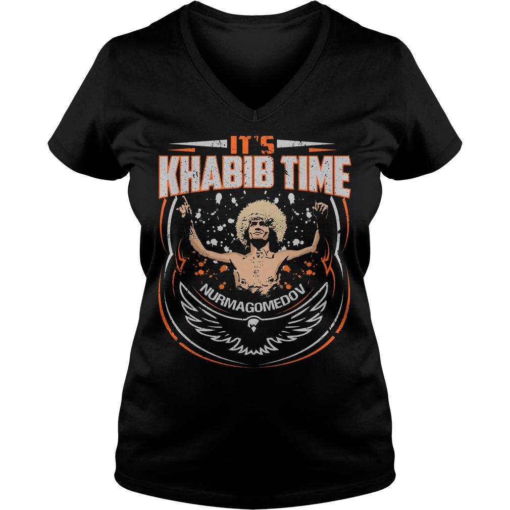 It's Khabib time nurmagomedov V-neck T-shirt