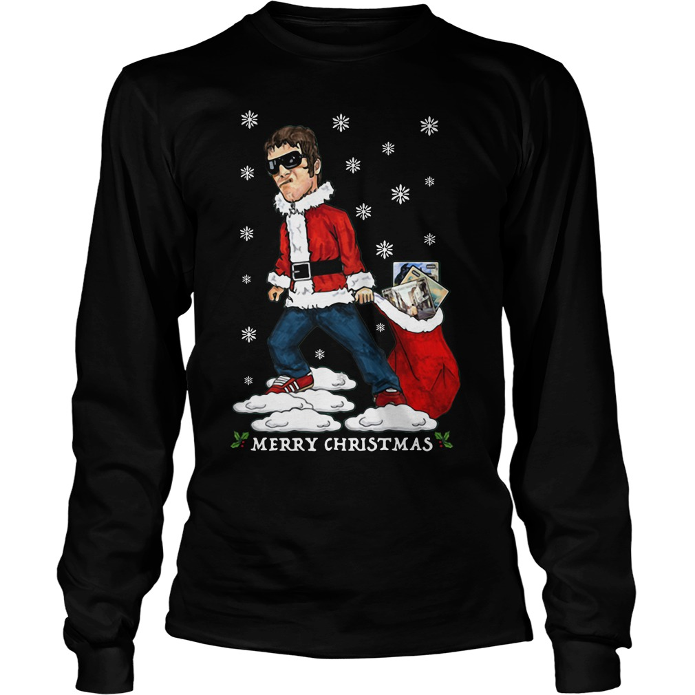 Liam Gallagher Merry Christmas jumper Longsleeve Tee