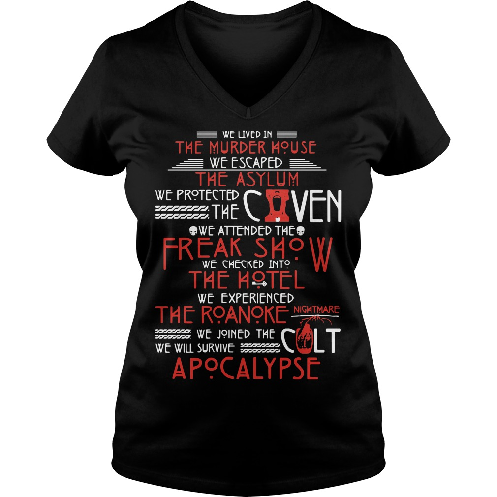 We lived in the murder house we escaped the asylum V-neck T-shirt