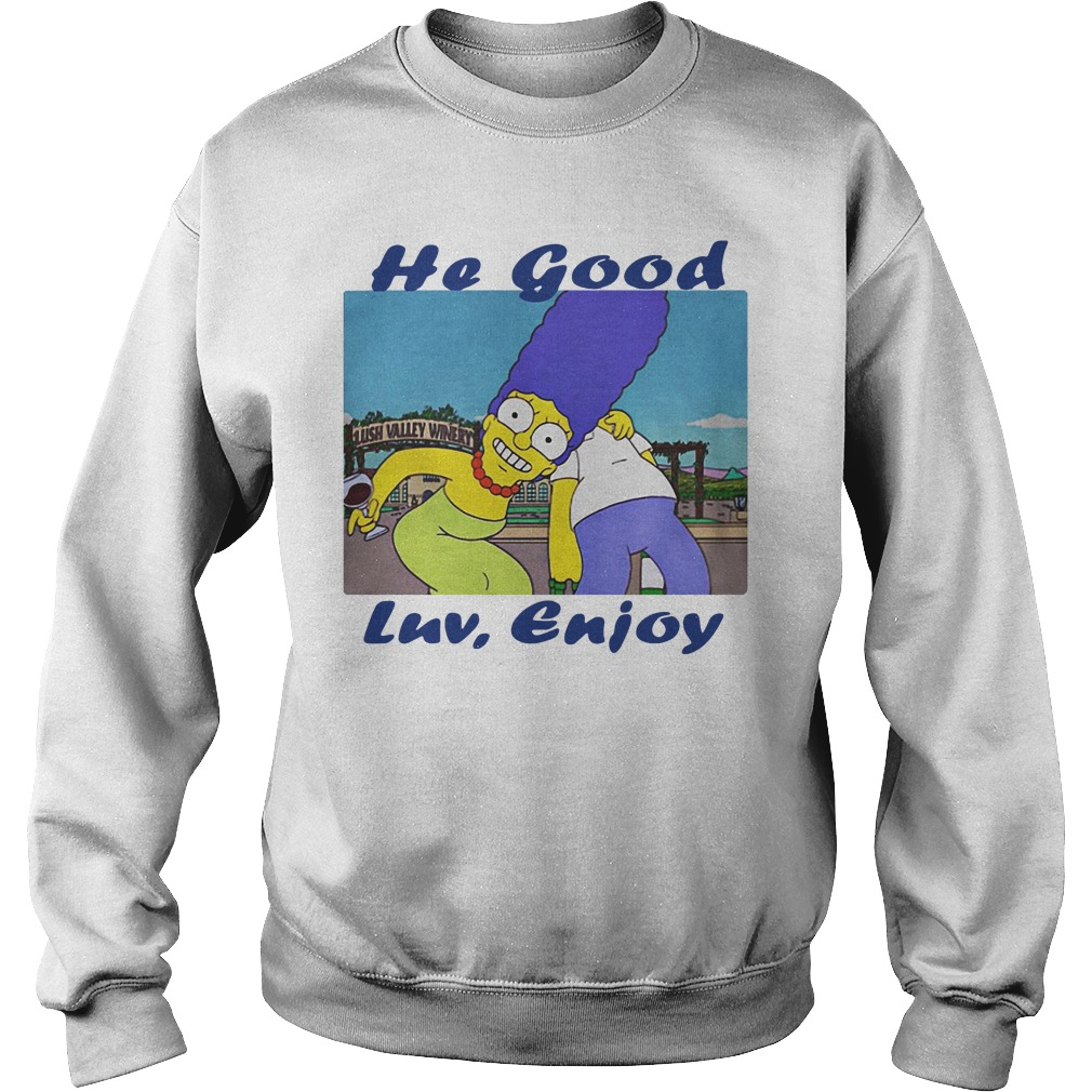 Marge Simpson he good LUV enjoy Sweater