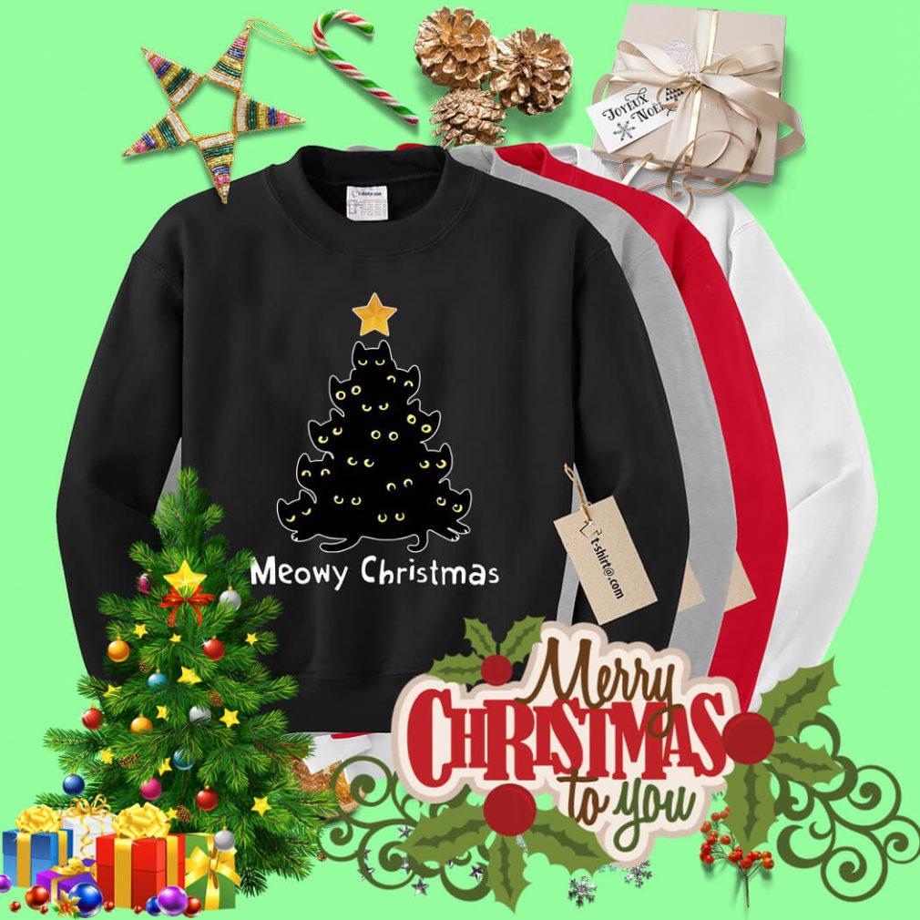 Meowy Christmas shirt, sweater