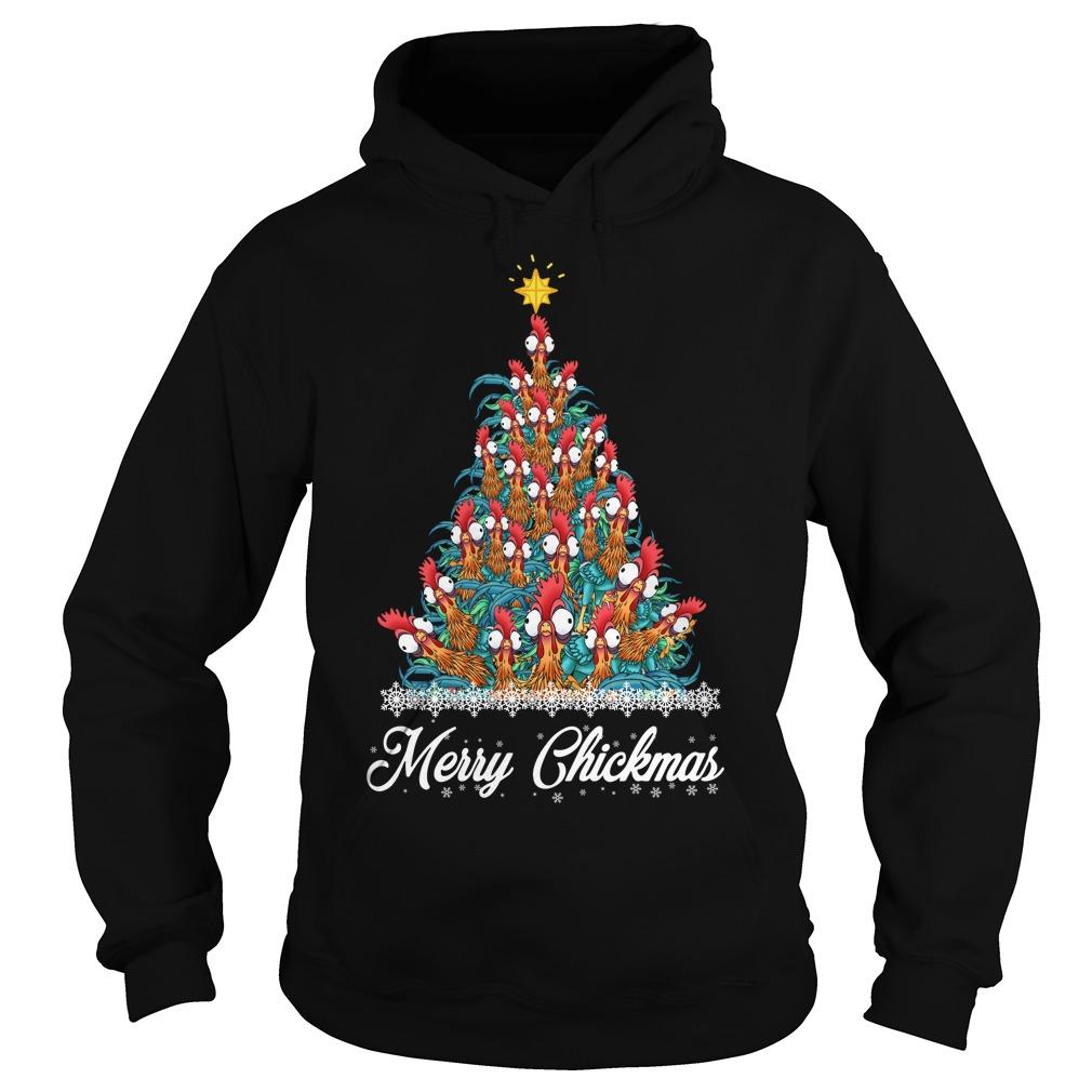 Merry Chickmas Hei Hei tree Hoodie