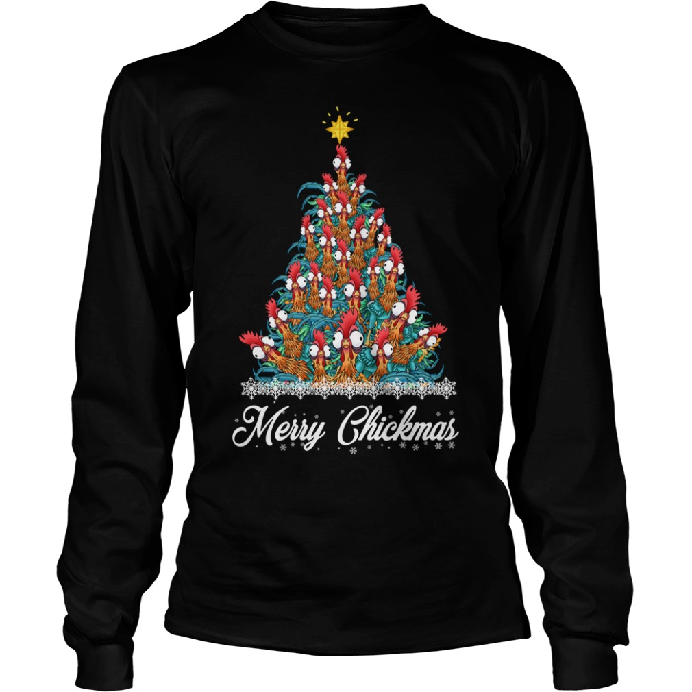 Merry Chickmas Hei Hei tree Longsleeve Tee
