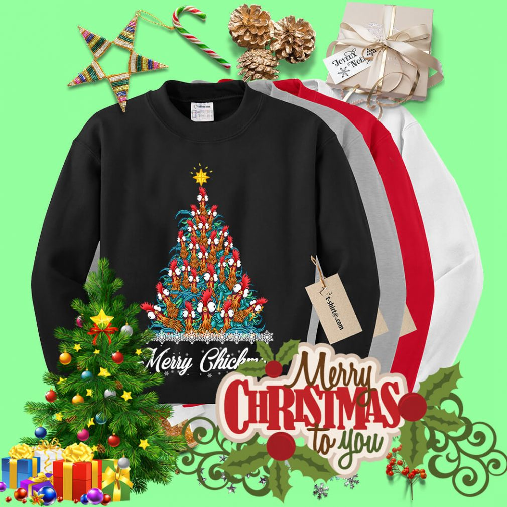 Merry Chickmas Hei Hei tree shirt, sweater