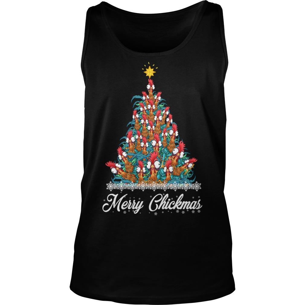 Merry Chickmas Hei Hei tree Tank Top