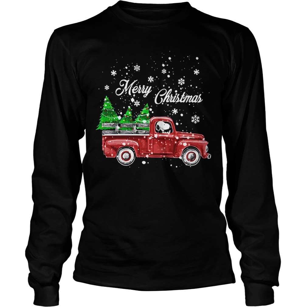 Merry Christmas Snoopy driving Longsleeve Tee