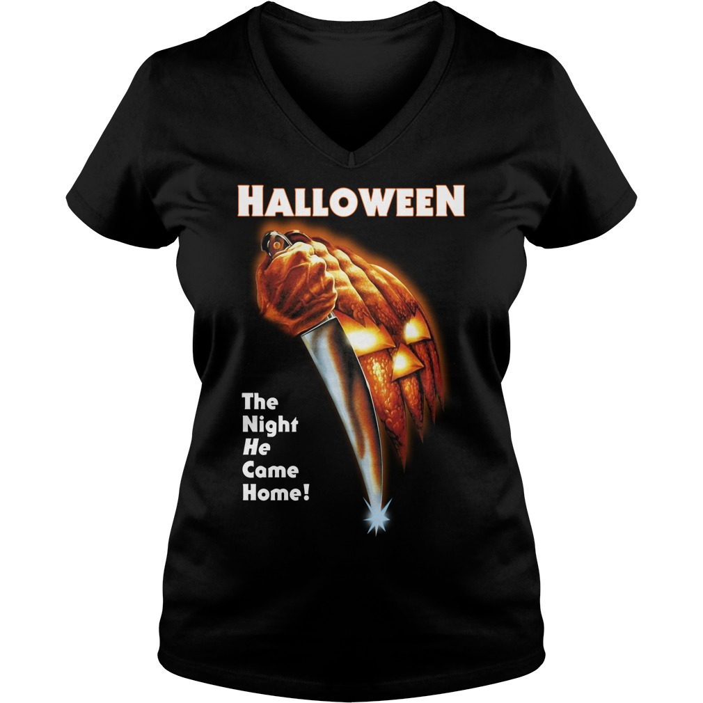 Michael Myers Halloween the night he came home V-neck T-shirt
