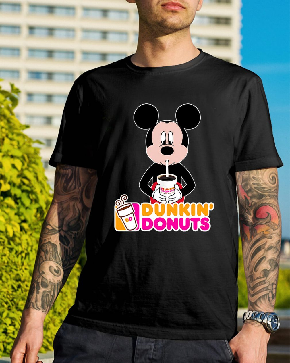 Mickey Mouse dunkin' donuts shirt