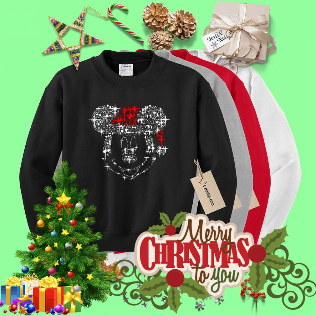Mickey Mouse Rhinestone Christmas shirt, sweater