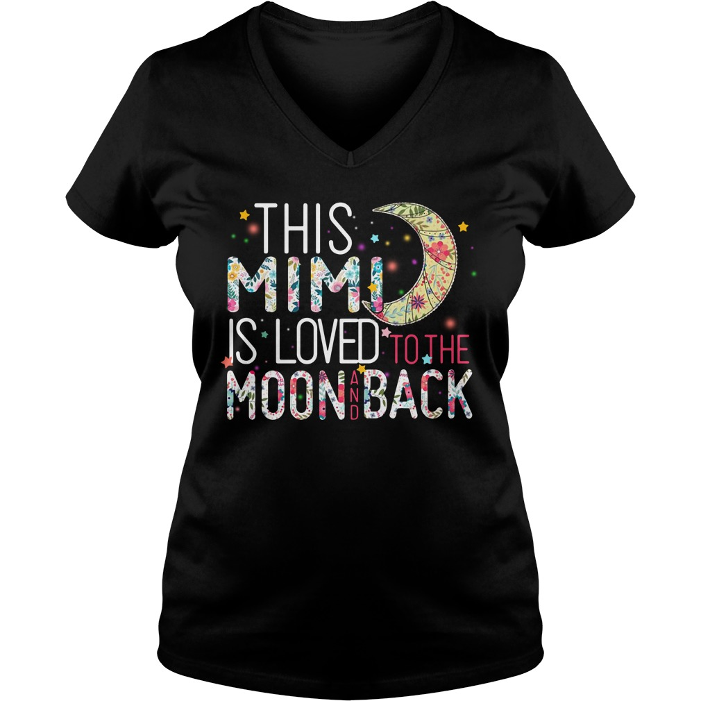 This Mini is loved to the moon and back V-neck T-shirt