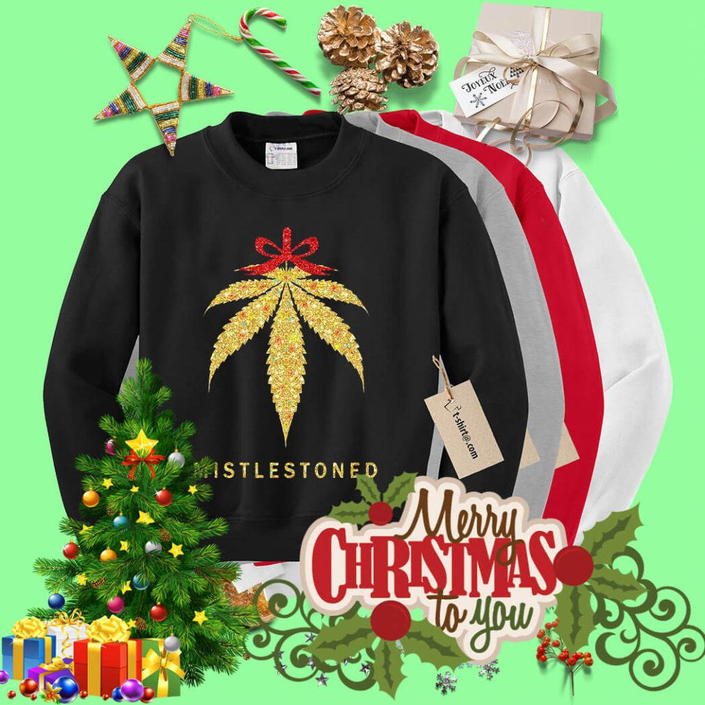 Mistlestoned weed Christmas shirt, sweater