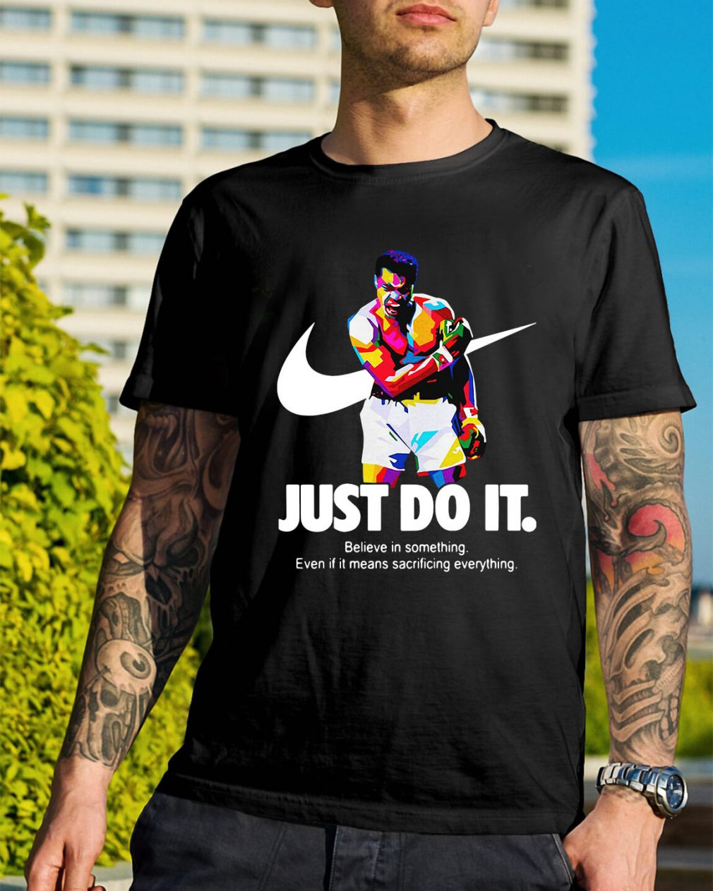 Muhammad Ali just do it believe in something shirt