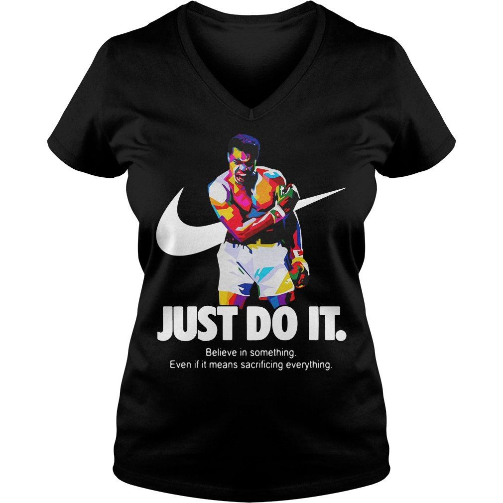 Muhammad Ali just do it believe in something V-neck T-shirt