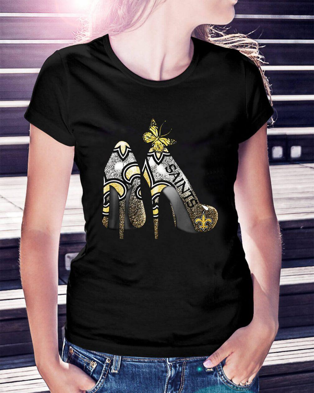 New Orleans Saints Heels high heels Ladies Tee