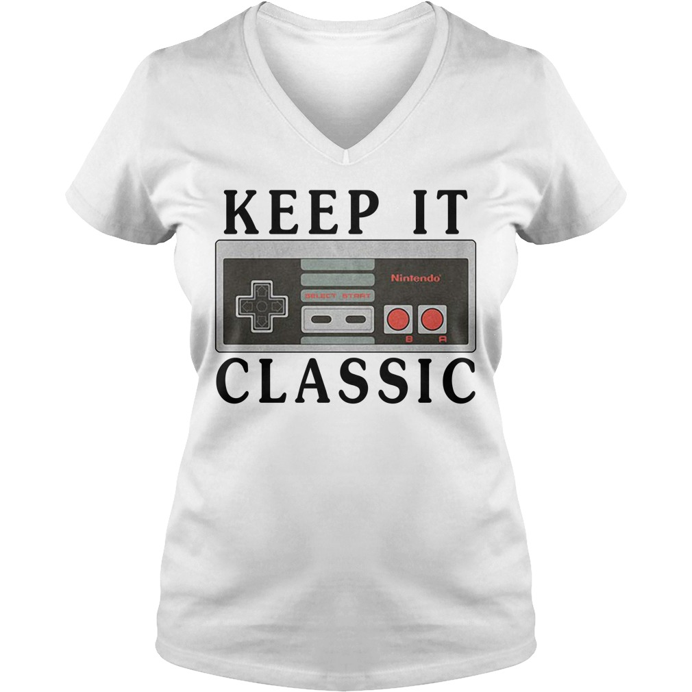 Nintendo keep it classic V-neck T-shirt