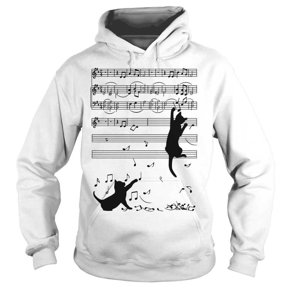Note music black cat Hoodie