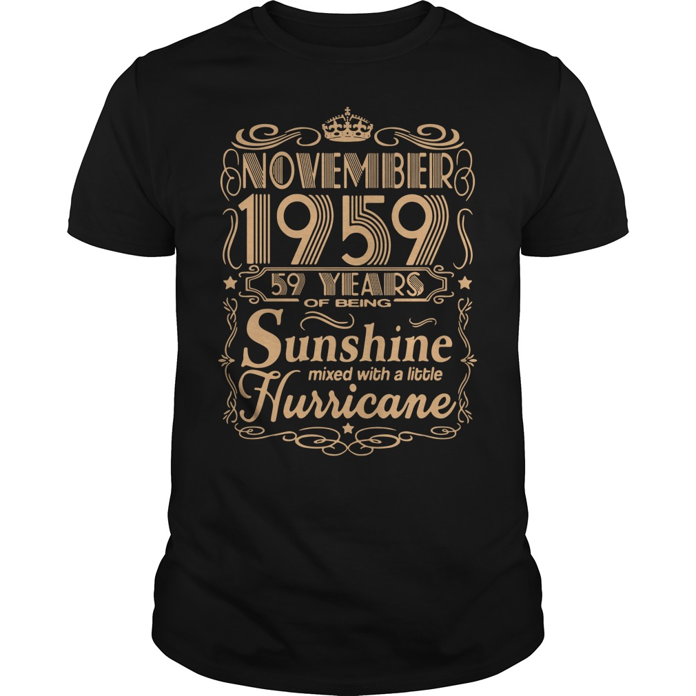 November 1959 59 years of being sunshine mixed Guys Shirt