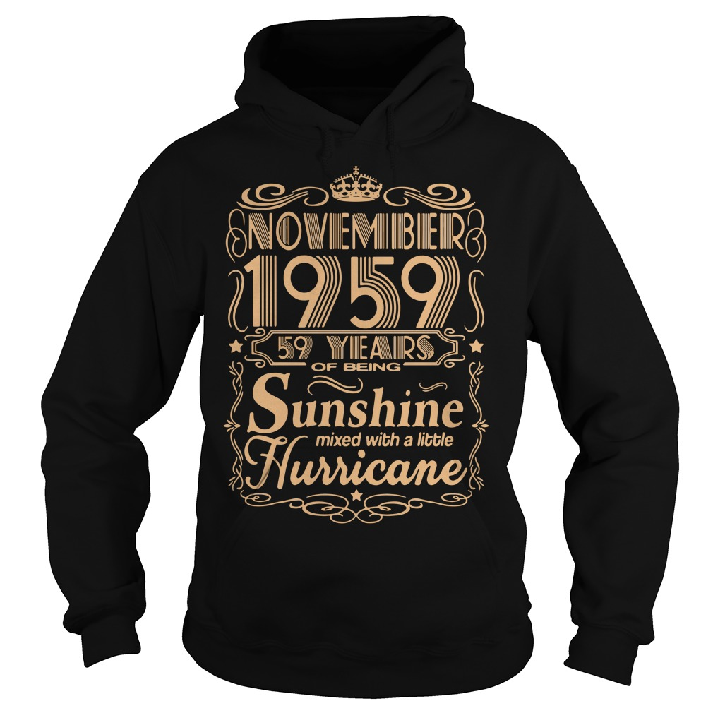 November 1959 59 years of being sunshine mixed Hoodie