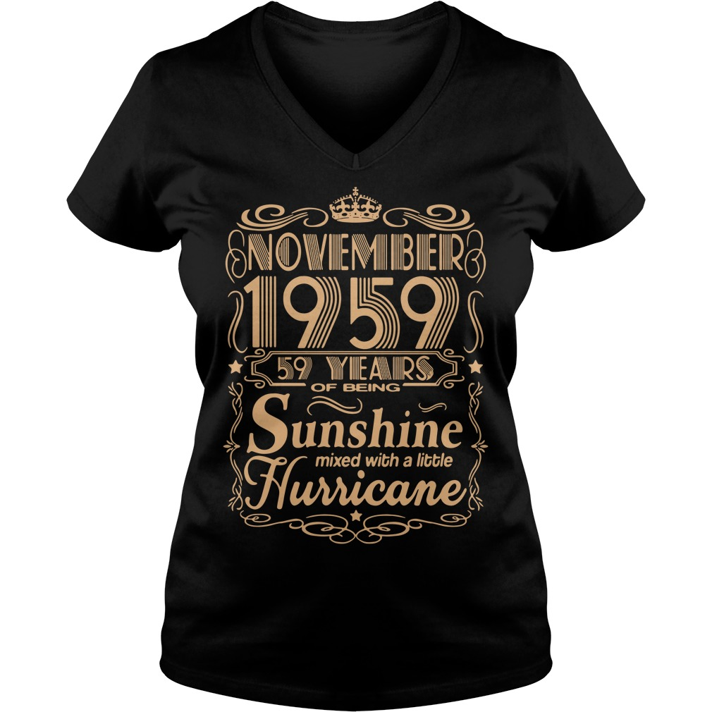 November 1959 59 years of being sunshine mixed V-neck T-shirt