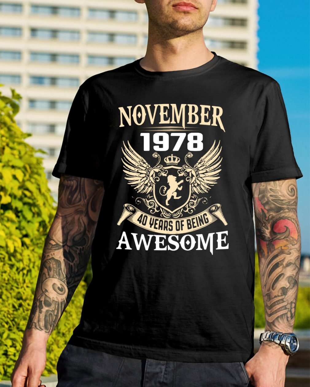 November 1978 40 years of being awesome shirt
