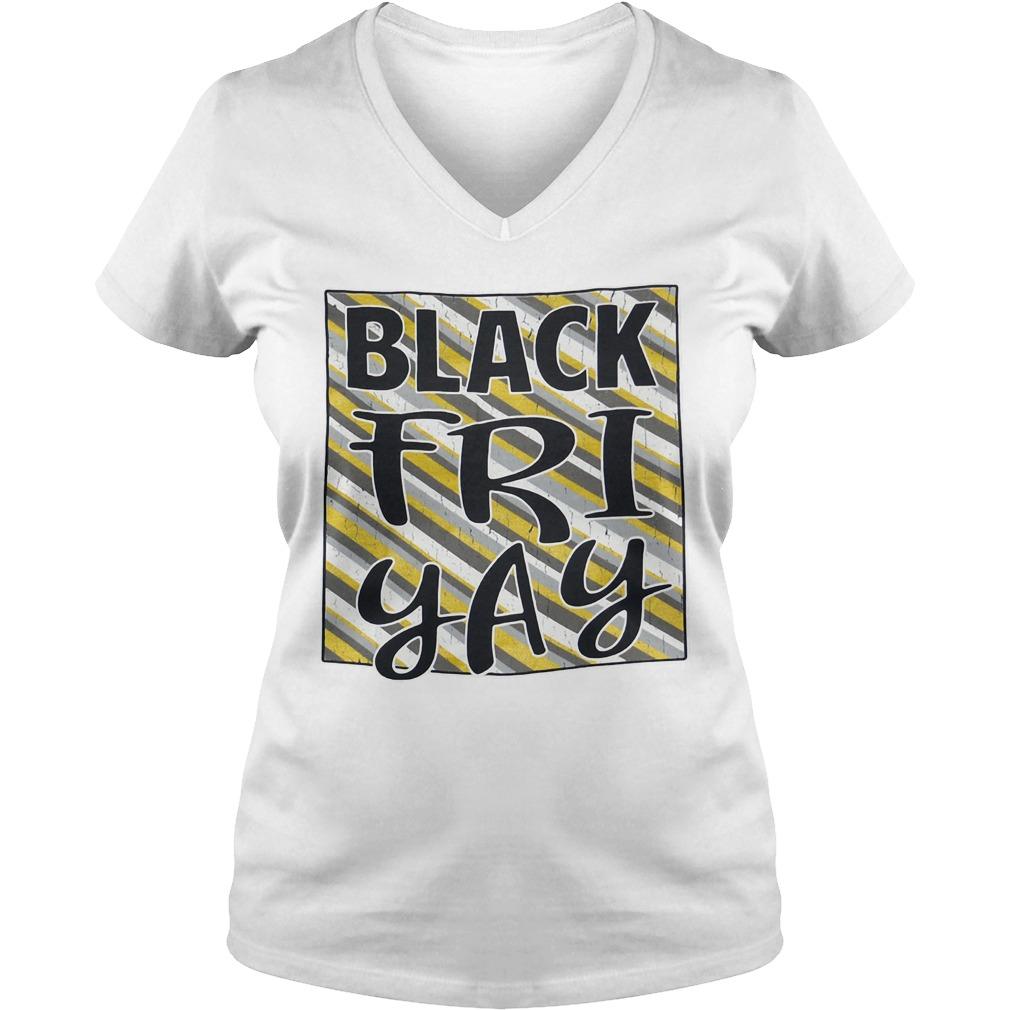 Official Black friyay V-neck T-shirt