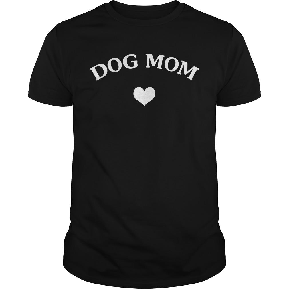Official Dog mom heart Guys Shirt