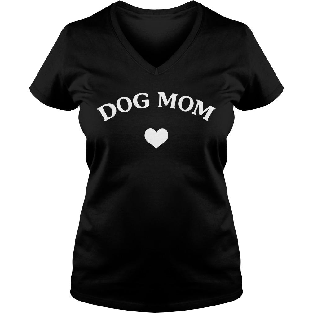 Official Dog mom heart V-neck T-shirt