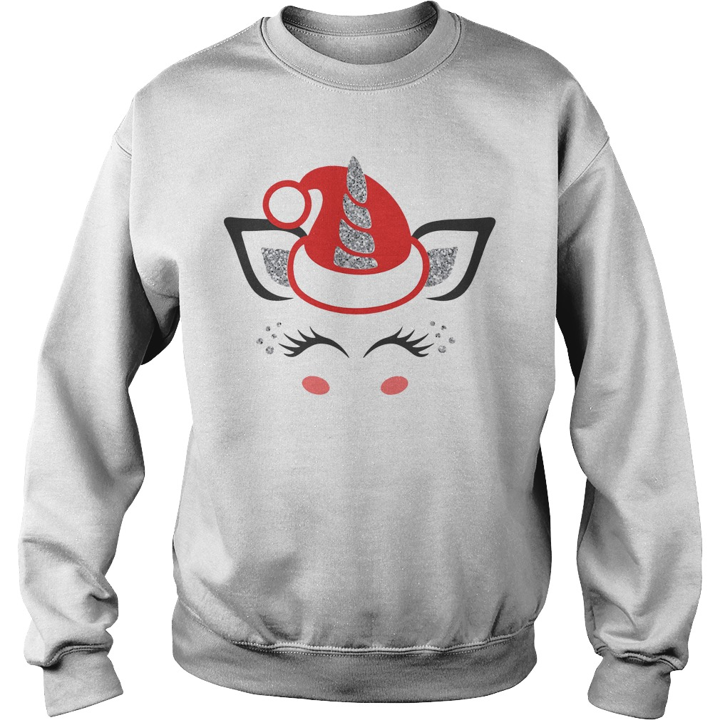 Official Merry Christmas unicorn face Sweater