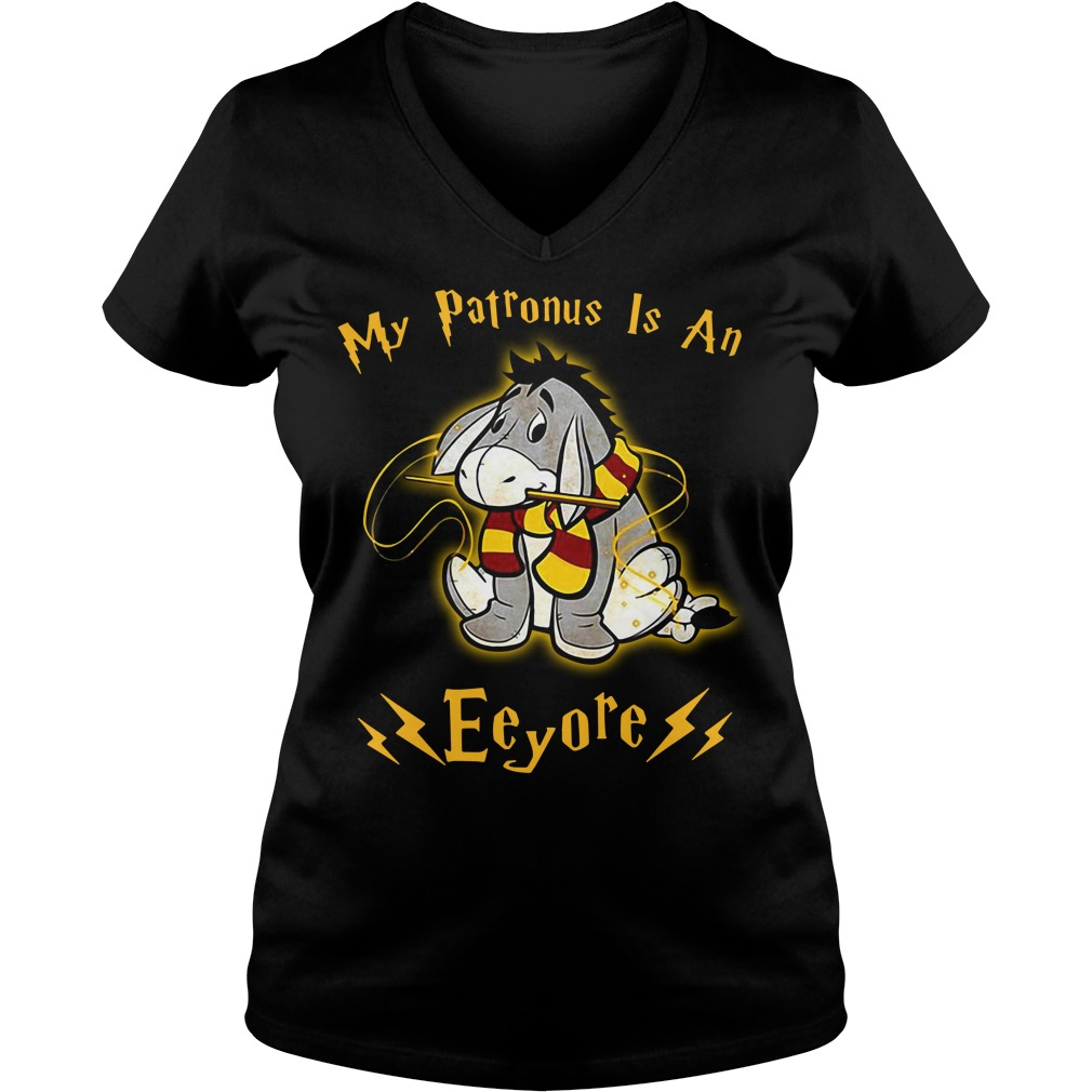 My Patronus is an Eeyore V-neck T-shirt