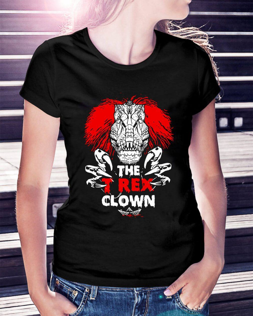 Pennywise the T-rex clown Ladies Tee