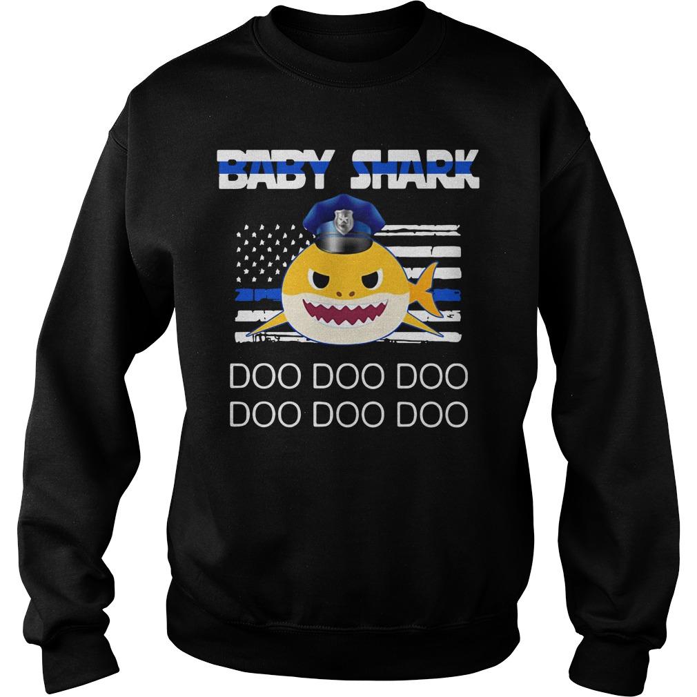 Police baby shark doo doo doo doo doo doo Sweater