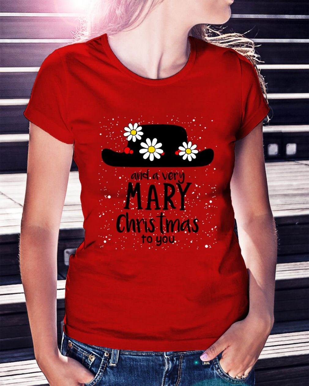 Popin and a very Mary Christmas to you Ladies Tee