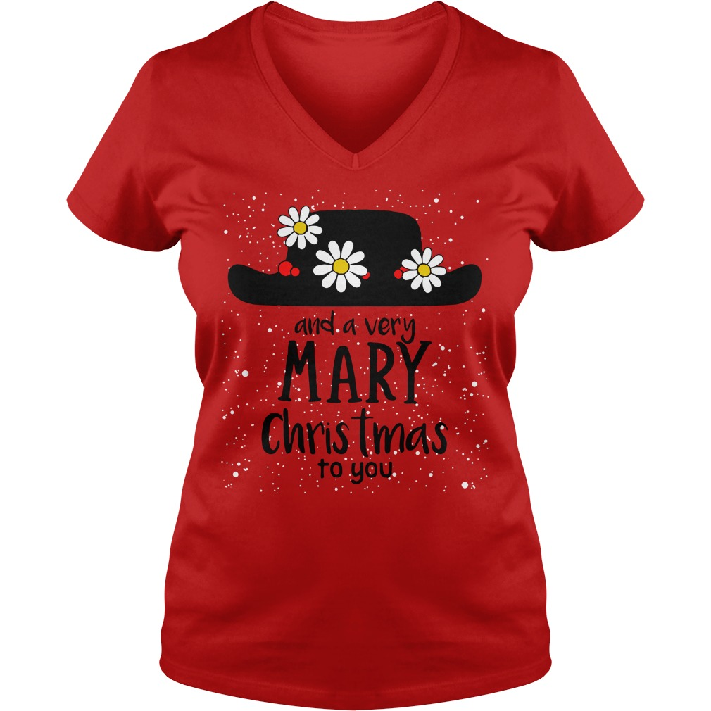 Popin and a very Mary Christmas to you V-neck T-shirt