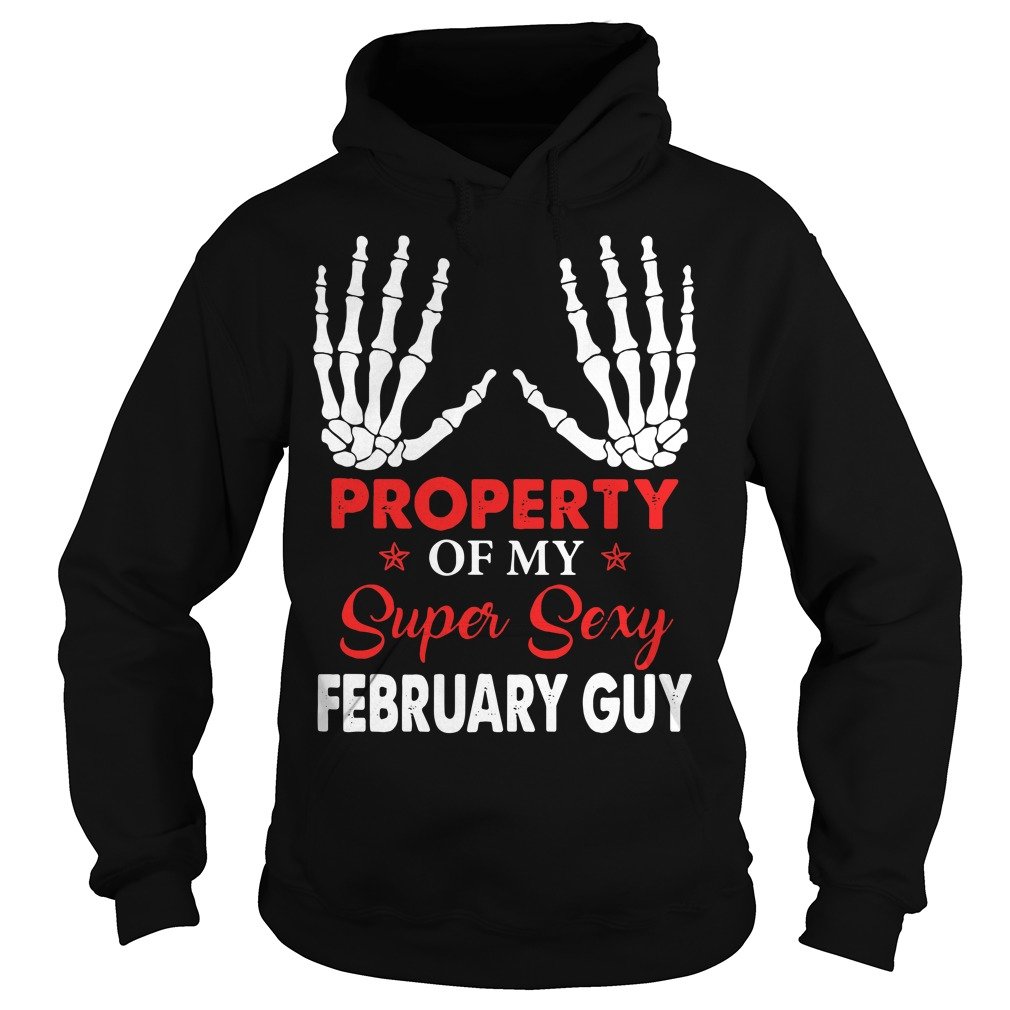 Property of my super sexy February guy Hoodie