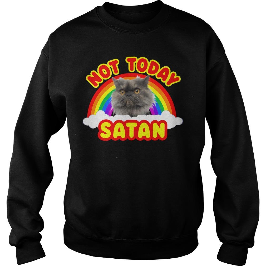 Rainbow Cat death metal not today Satan Sweater