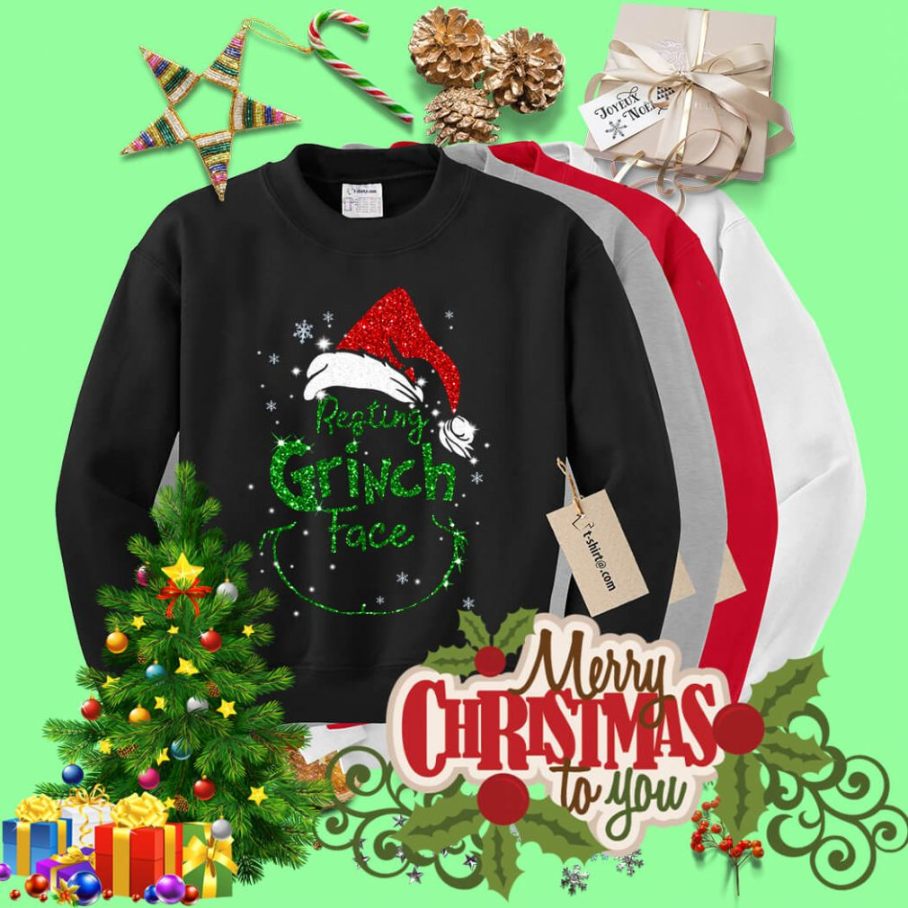 Resting Grinch face shirt, sweater