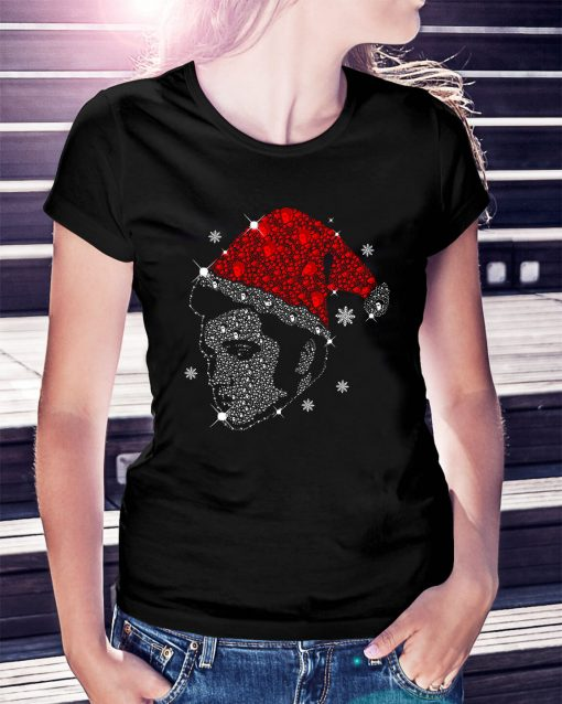 Rhinestone Christmas Elvis Presley Ladies Tee