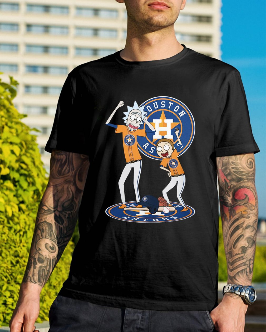 Rick and Morty Houston Astros shirt