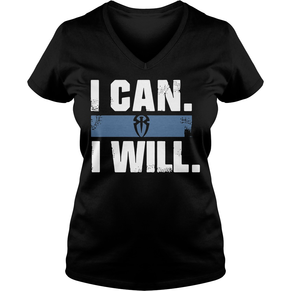 Roman Reigns I can I will V-neck T-shirt